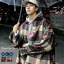 韓国ファッション メンズ チェック ジャケット 秋冬 ビックシルエット シャツジャケット タータンチェック ストリート おしゃれ オルチャンファッション 韓国服 モード