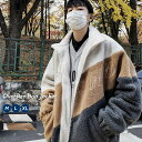 【10/29再販】 韓国ファッション メンズ ボアジャケット 冬 ボア ブルゾン ビッグシルエット もこもこ あったかい おしゃれ オルチャンファッション 韓国服 スポーツ