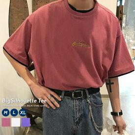 【メール便対応】 ビッグシルエット tシャツ メンズ 半袖 韓国 ファッション 無地 オーバーサイズ オルチャンファッション 韓国服 デイリーコーデ ジェンダーレス korea