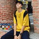 【メール便対応】 ビッグシルエット tシャツ メンズ 無地 半袖 韓国ファッション ストリート 夏 春 tee ティーシャツ 韓国服 おしゃれ …