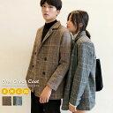 韓国 ファッション 秋冬 ペアルック グレンチェック コート カップル ペアコート おしゃれ ウール オルチャンファッシ…