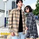 【9/28再販 メール便対応】 ペアルック チェックシャツ タータンチェック 韓国 ファッション カップル おそろい リン…