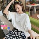 韓国 ファッション tシャツ レディース 春 夏 オルチャンファッション ビックシルエット 体系カバー 着やせ フリーサイズ マタニティウ…