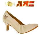 【セミオーダー】モニシャン・社交ダンスシューズ(靴)履き心地を考慮したモダンシューズ♪ゴージャスなゴールドの輝きは世代問わず人気!女性モダンダンスシューズFM1207