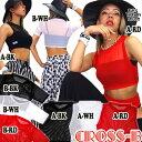 メッシュ/シースルーショート丈トップス(A0795)CROSS-B