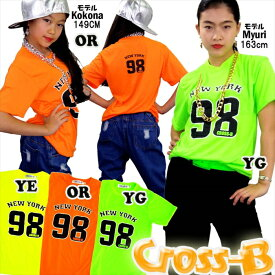 ネオンカラーTシャツ-NewYork98(A1805)CROSS-B