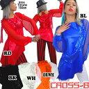 シースルーバルーン袖ワンピース/ドレス/チュニック(A5441)CROSS-B