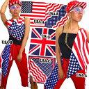 バンダナ/USA/UK/星条旗/アメリカ/ユニオンジャック(A6503)CROSS-B