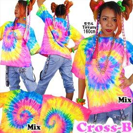ネオンタイダイカラーTシャツ(A1288)CROSS-B
