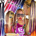 三つ編みグラデーションカラーエクステ(A7016)CROSS-B