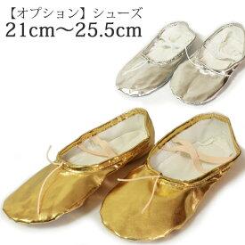 【レンタル】オプションです シューズ3 屋内専用 ゴールド・シルバーの2種類 21cm〜25.5cmまで アラビアン衣装レンタルをご利用のお客様のみご利用できます