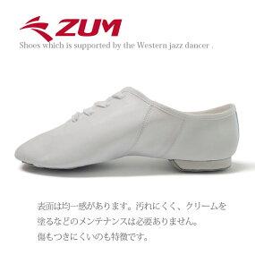 ジャズダンスシューズジャズシューズダンスシューズ合成皮革革底チアダンスチアリーディング新体操白ホワイトZJS5