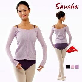 【サンシャ】SanshaVネックセーター(M・Lサイズ) KVT9 《バレエ用品、ウォームアップ、トップス、バレエレオタード、ジュニア、ダンス用品》 楽天 5倍