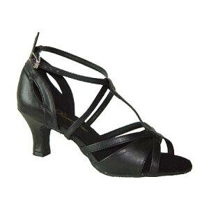 ダンスシューズ・社交ダンスシューズ・レディース【セミオーダー】女性ラテンシューズ・黒ブラック169606セミオーダー品ですのであなたにぴったりの1足がつくれますよ♪