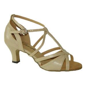 ダンスシューズ・社交ダンスシューズ・レディース【セミオーダー】女性ラテンシューズ・ベージュ169607セミオーダー品ですのであなたにぴったりの1足がつくれますよ♪