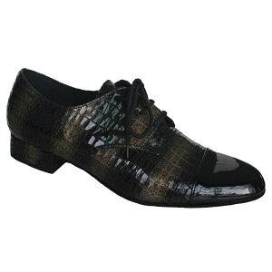 ダンスシューズ・社交ダンスシューズ・メンズ【セミオーダー】男性モダンシューズ・黒251604セミオーダー品ですのであなたにぴったりの1足がつくれますよ♪
