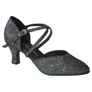 ダンスシューズ・社交ダンスシューズ・レディース【セミオーダー】女性兼用シューズ・黒ブラック・ラメ681301セミオーダー品ですのであなたにぴったりの1足がつくれますよ♪