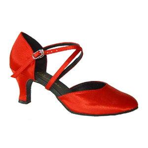 ダンスシューズ・社交ダンスシューズ・レディース【セミオーダー】女性兼用シューズ・赤レッド681320セミオーダー品ですのであなたにぴったりの1足がつくれますよ♪