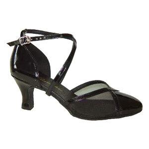 ダンスシューズ・社交ダンスシューズ・レディース【セミオーダー】女性兼用シューズ・黒ブラック681603セミオーダー品ですのであなたにぴったりの1足がつくれますよ♪