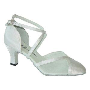 ダンスシューズ・社交ダンスシューズ・レディース【セミオーダー】女性兼用シューズ・白ホワイト681606セミオーダー品ですのであなたにぴったりの1足がつくれますよ♪