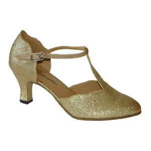 ダンスシューズ・社交ダンスシューズ・レディース【セミオーダー】女性兼用シューズ・ピンクベージュ・ラメ681904セミオーダー品ですのであなたにぴったりの1足がつくれますよ♪
