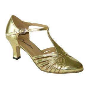 ダンスシューズ・社交ダンスシューズ・レディース【セミオーダー】女性兼用シューズ・ゴールド682904セミオーダー品ですのであなたにぴったりの1足がつくれますよ♪