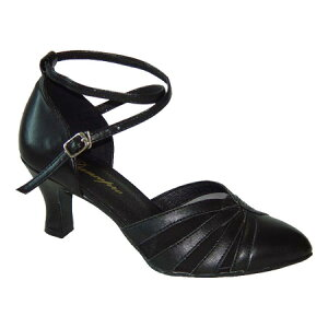 ダンスシューズ・社交ダンスシューズ・レディース【セミオーダー】女性兼用シューズ・黒ブラック684101セミオーダー品ですのであなたにぴったりの1足がつくれますよ♪