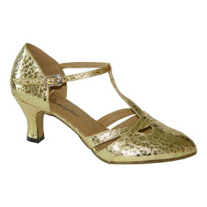 ダンスシューズ・社交ダンスシューズ・レディース【セミオーダー】女性兼用シューズ・ゴールド684308セミオーダー品ですのであなたにぴったりの1足がつくれますよ♪