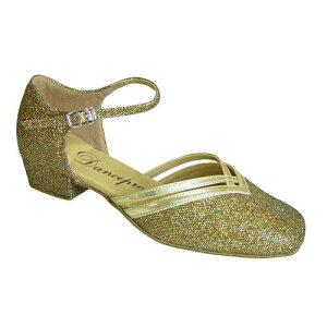 ダンスシューズ・社交ダンスシューズ・レディース【セミオーダー】女性兼用シューズ・ゴールド888105セミオーダー品ですのであなたにぴったりの1足がつくれますよ♪