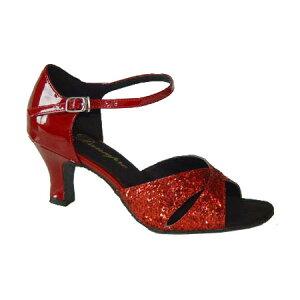 ダンスシューズ・社交ダンスシューズ・レディース【セミオーダー】女性ラテンシューズ・赤レッド161515セミオーダー品ですのであなたにぴったりの1足がつくれますよ♪