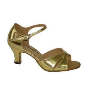 ダンスシューズ・社交ダンスシューズ・レディース【セミオーダー】女性ラテンシューズ・ゴールド161519セミオーダー品ですのであなたにぴったりの1足がつくれますよ♪