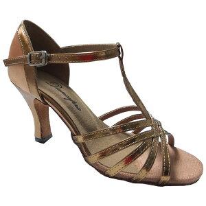 ダンスシューズ・社交ダンスシューズ・レディース【セミオーダー】女性ラテンシューズ・ブロンズ161801セミオーダー品ですのであなたにぴったりの1足がつくれますよ♪