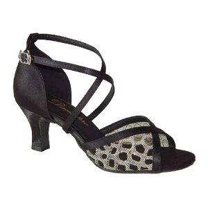 ダンスシューズ・社交ダンスシューズ・レディース【セミオーダー】女性ラテンシューズ・黒ブラック162914セミオーダー品ですのであなたにぴったりの1足がつくれますよ♪
