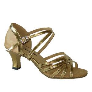 ダンスシューズ・社交ダンスシューズ・レディース【セミオーダー】女性ラテンシューズ・ゴールド163803セミオーダー品ですのであなたにぴったりの1足がつくれますよ♪