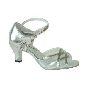ダンスシューズ・社交ダンスシューズ・レディース【セミオーダー】女性ラテンシューズ・シルバー165709セミオーダー品ですのであなたにぴったりの1足がつくれますよ♪