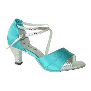 ダンスシューズ・社交ダンスシューズ・レディース【セミオーダー】女性ラテンシューズ・ブルー165919セミオーダー品ですのであなたにぴったりの1足がつくれますよ♪