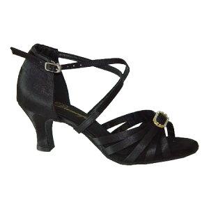ダンスシューズ・社交ダンスシューズ・レディース【セミオーダー】女性ラテンシューズ・黒ブラック166602セミオーダー品ですのであなたにぴったりの1足がつくれますよ♪