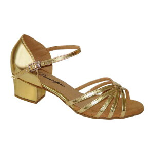 ダンスシューズ・社交ダンスシューズ・レディース【セミオーダー】女性ラテンシューズ・ゴールド166903セミオーダー品ですのであなたにぴったりの1足がつくれますよ♪