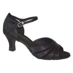 ダンスシューズ・社交ダンスシューズ・レディース【セミオーダー】女性ラテンシューズ・黒ブラック168001セミオーダー品ですのであなたにぴったりの1足がつくれますよ♪