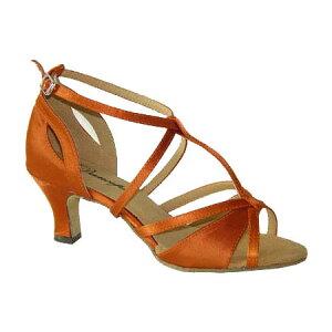 ダンスシューズ・社交ダンスシューズ・レディース【セミオーダー】女性ラテンシューズ・オレンジ169601セミオーダー品ですのであなたにぴったりの1足がつくれますよ♪