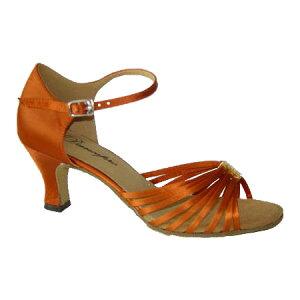 ダンスシューズ・社交ダンスシューズ・レディース【セミオーダー】女性ラテンシューズ・オレンジ171208セミオーダー品ですのであなたにぴったりの1足がつくれますよ♪
