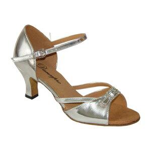 ダンスシューズ・社交ダンスシューズ・レディース【セミオーダー】女性ラテンシューズ・シルバー172001セミオーダー品ですのであなたにぴったりの1足がつくれますよ♪