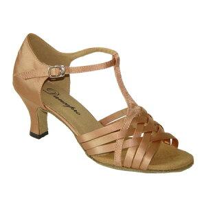 ダンスシューズ・社交ダンスシューズ・レディース【セミオーダー】女性ラテンシューズ・ピンクベージュ172303セミオーダー品ですのであなたにぴったりの1足がつくれますよ♪