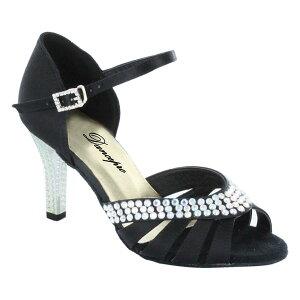 ダンスシューズ・社交ダンスシューズ・レディース【セミオーダー】女性ラテンシューズ・黒ブラック174601セミオーダー品ですのであなたにぴったりの1足がつくれますよ♪