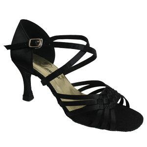 ダンスシューズ・社交ダンスシューズ・レディース【セミオーダー】女性ラテンシューズ・黒ブラック176501セミオーダー品ですのであなたにぴったりの1足がつくれますよ♪