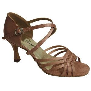 ダンスシューズ・社交ダンスシューズ・レディース【セミオーダー】女性ラテンシューズ・ピンクベージュ176504セミオーダー品ですのであなたにぴったりの1足がつくれますよ♪
