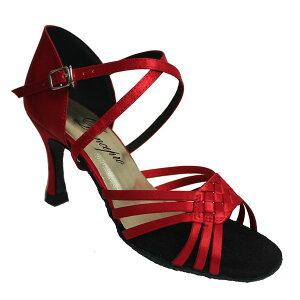 ダンスシューズ・社交ダンスシューズ・レディース【セミオーダー】女性ラテンシューズ・赤レッド176505セミオーダー品ですのであなたにぴったりの1足がつくれますよ♪