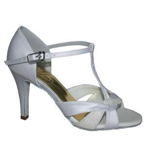 ダンスシューズ・社交ダンスシューズ・レディース【セミオーダー】女性ラテンシューズ・白ホワイト177904セミオーダー品ですのであなたにぴったりの1足がつくれますよ♪