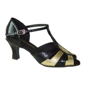 ダンスシューズ・社交ダンスシューズ・レディース【セミオーダー】女性ラテンシューズ・黒ブラック270206セミオーダー品ですのであなたにぴったりの1足がつくれますよ♪