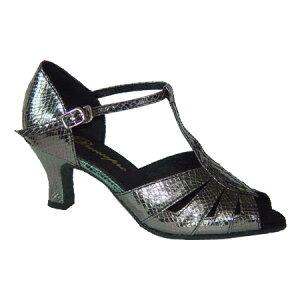 ダンスシューズ・社交ダンスシューズ・レディース【セミオーダー】女性ラテンシューズ・グレー270208セミオーダー品ですのであなたにぴったりの1足がつくれますよ♪